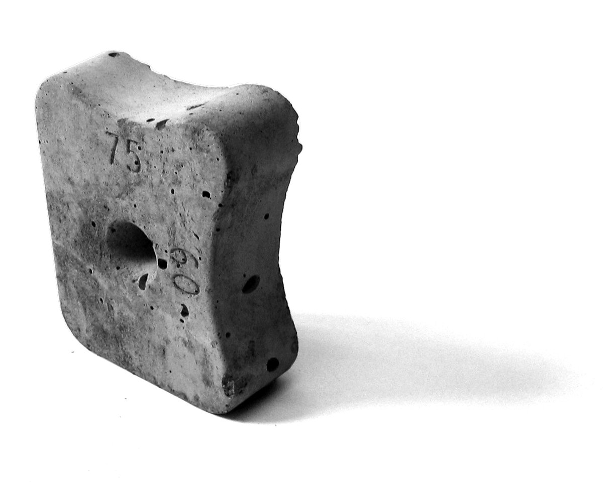 Non Combustible Spacers : Concrete block spacers